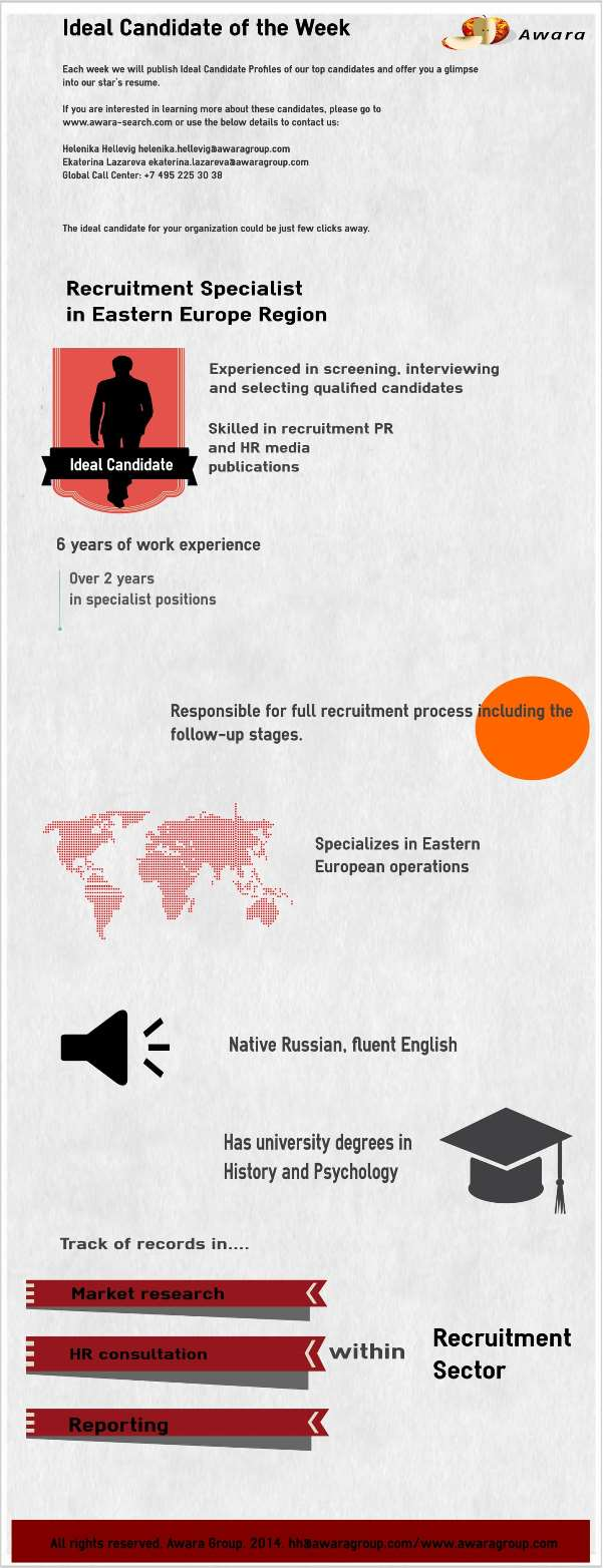 Recuitment Specialist in Eastern Europe